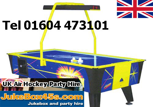 one night party air hockey table hire