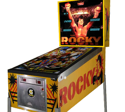 Rocky Pinball Machine For Sale