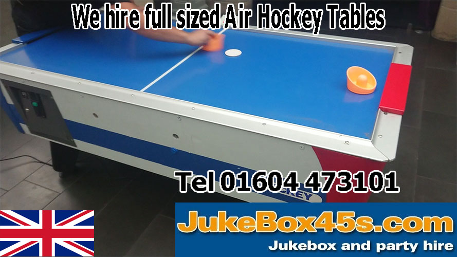 long term air hockey table hire