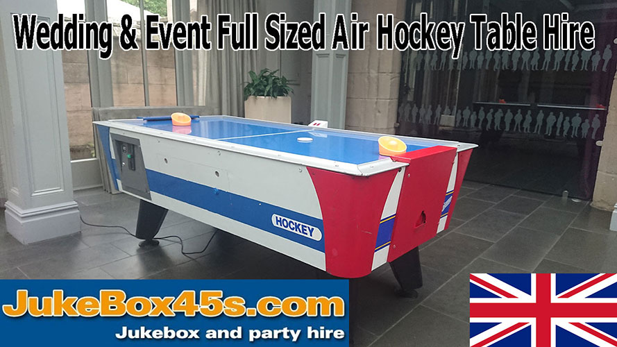 air hockey table hire for weddings and parties
